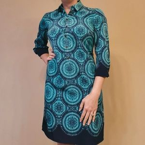 BOGO Sale! The Limited dress xs Collar geometric blue